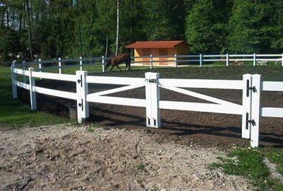 Ogrodzenia farmerskie do wybiegów koni.